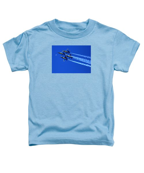 Thanks Goodness For That Fourth Dimension As A Boeing 767 Transitions Above The Box. Toddler T-Shirt