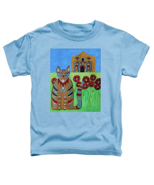 the Alamo Cat Toddler T-Shirt