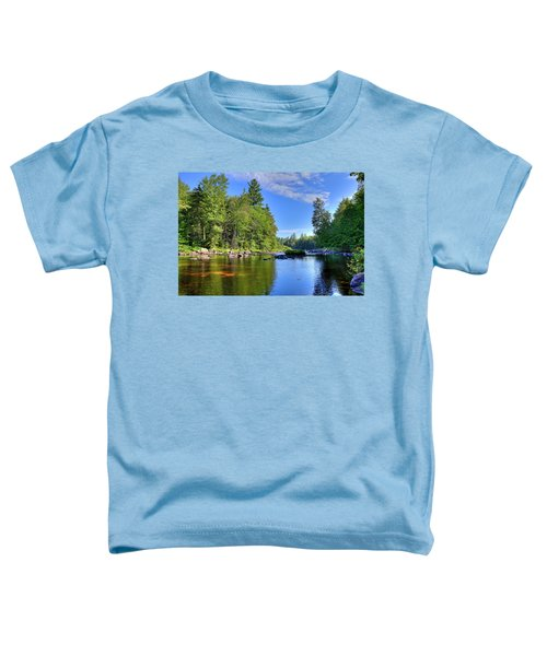 Toddler T-Shirt featuring the photograph The Calm Below Buttermilk Falls by David Patterson