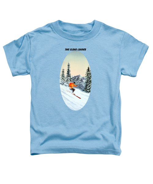 The Clear Leader Skiing Toddler T-Shirt