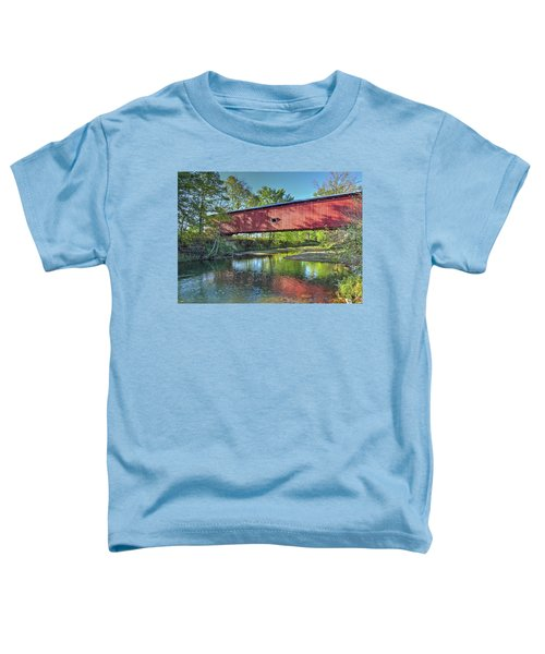 The Crooks Covered Bridge - Sideview Toddler T-Shirt
