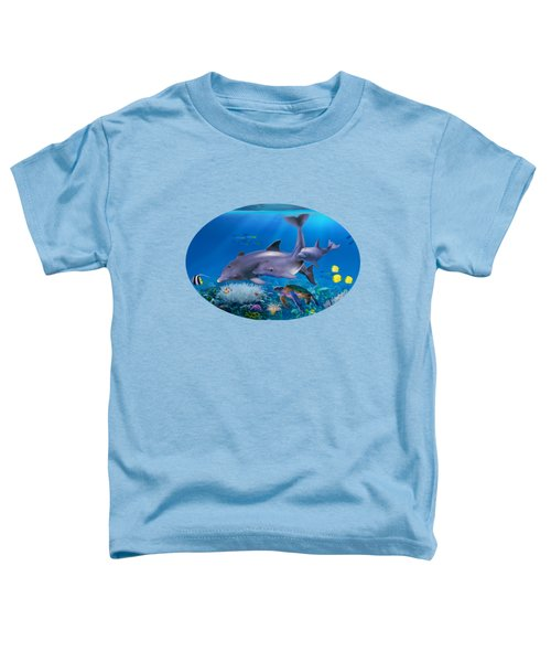 The Dolphin Family Toddler T-Shirt by Glenn Holbrook