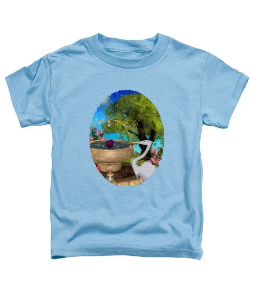 The Rose Path Egret Toddler T-Shirt by Sharon and Renee Lozen