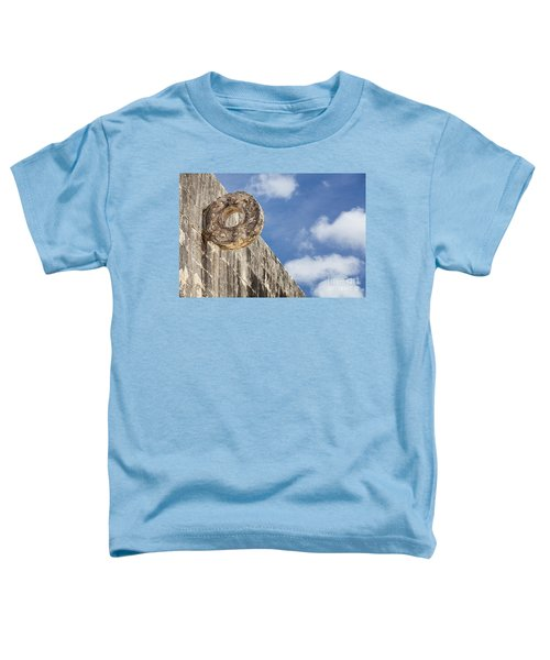 The Stone Ring At The Great Mayan Ball Court Of Chichen Itza Toddler T-Shirt