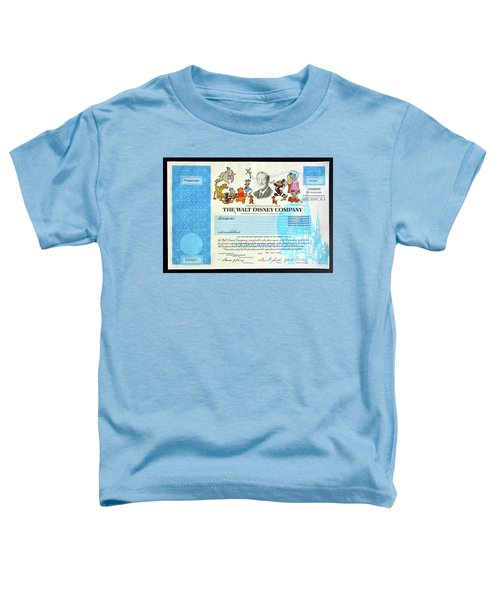 The Walt Disney Company Stock Cert Toddler T-Shirt