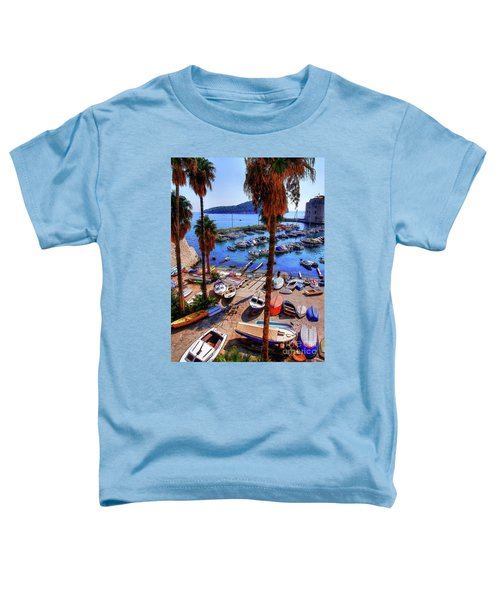 Through The Trees Dubrovnik Harbour Toddler T-Shirt