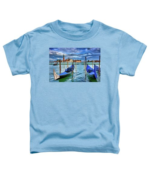 Gondolas And San Giorgio Di Maggiore In Venice, Italy Toddler T-Shirt