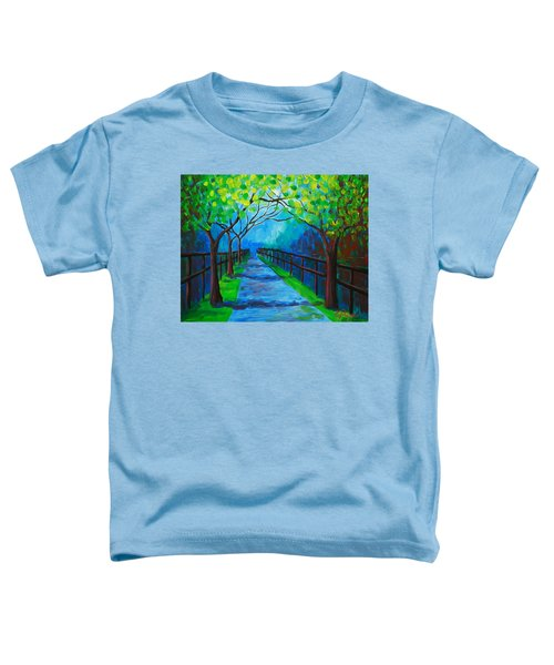 Tree Lined Fence Toddler T-Shirt