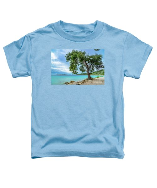 Tree On Northern Dalmatian Coast Beach, Croatia Toddler T-Shirt