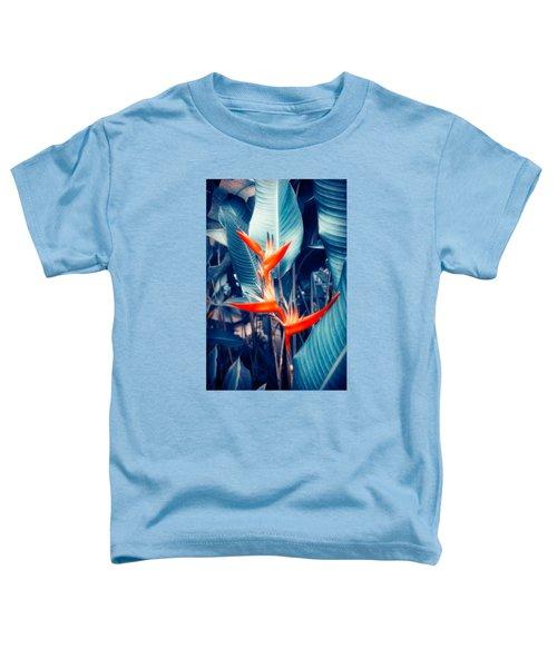 Tropical Parakeet Flower Toddler T-Shirt by Konstantin Sevostyanov