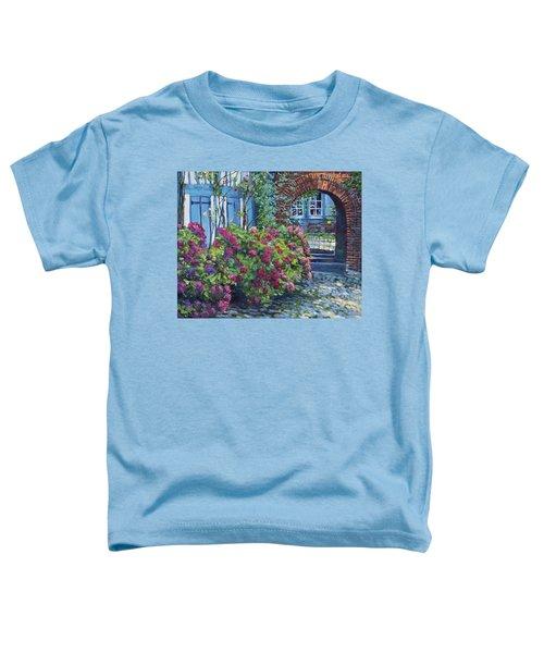 Tudor Hydrangea Garden Toddler T-Shirt