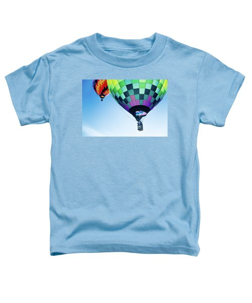 Two Hot Air Balloons Ascending Toddler T-Shirt