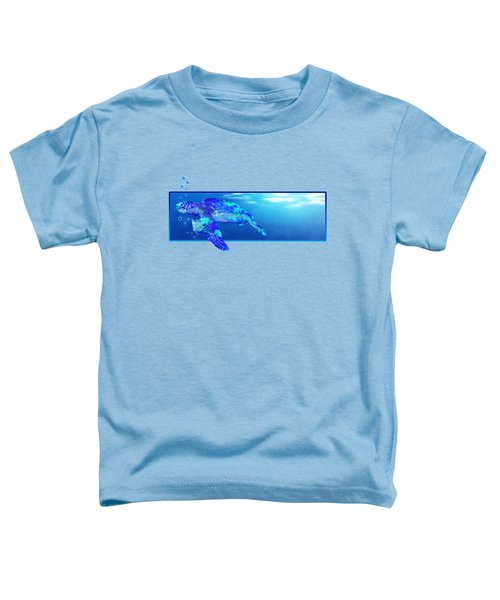 Underwater Sea Turtle Toddler T-Shirt by Chris MacDonald