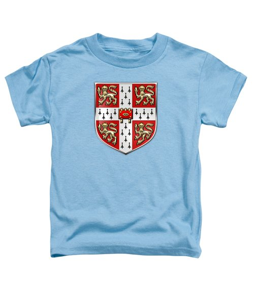 University Of Cambridge Seal - Coat Of Arms Over Colours Toddler T-Shirt by Serge Averbukh