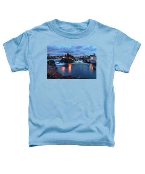Upper Spokane Falls At Dusk Toddler T-Shirt