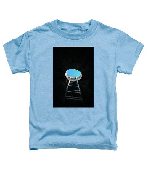 Vertical Step-ladder On Ceiling Window  Toddler T-Shirt