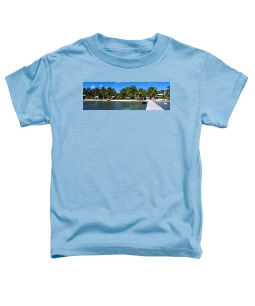 View Of Beachfront From Pier, Caye Toddler T-Shirt