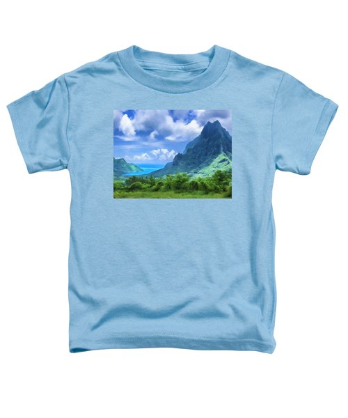 View Of Cook's Bay Mo'orea Toddler T-Shirt