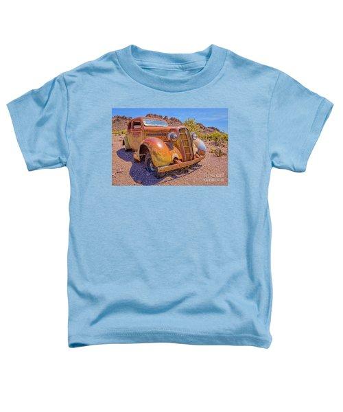 Vintage Car In The Desert Hdr Toddler T-Shirt
