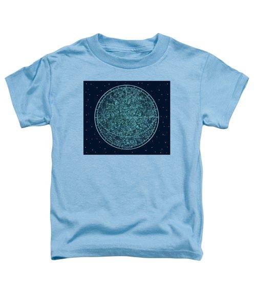 Vintage Zodiac Map - Teal Blue Toddler T-Shirt