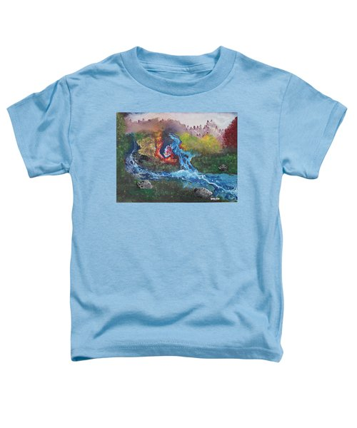Toddler T-Shirt featuring the painting Volcano Delta by Antonio Romero