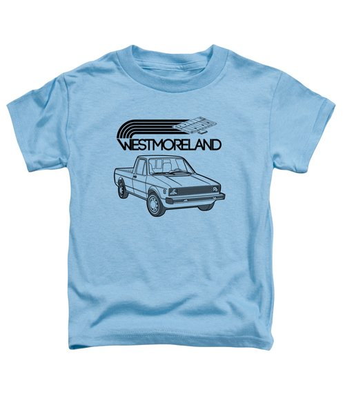 Vw Rabbit Pickup - Westmoreland Theme - Black Toddler T-Shirt by Ed Jackson