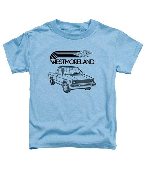 Vw Rabbit Pickup - Westmoreland Theme - Black Toddler T-Shirt
