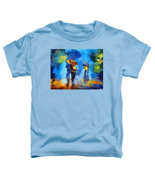Walking In The Rain Toddler T-Shirt