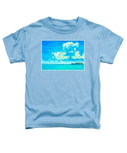 Watercolor Spring On Sarasota Bay Toddler T-Shirt
