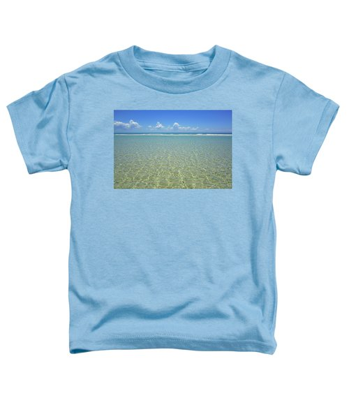 Where Crystal Clear Ocean Waters Meet The Sky Toddler T-Shirt