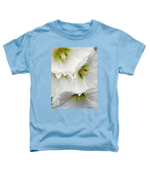 White Hollyhocks Toddler T-Shirt