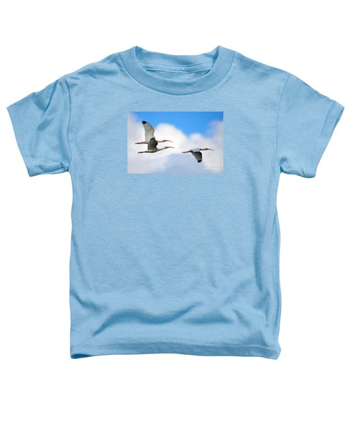 White Ibis Flock Toddler T-Shirt