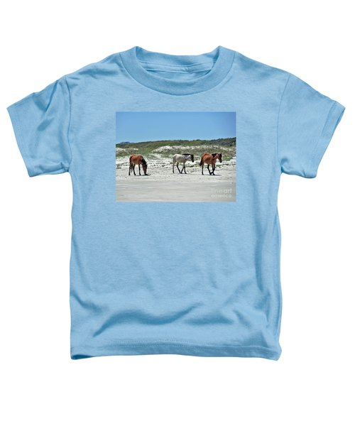 Wild Horses On The Beach Toddler T-Shirt