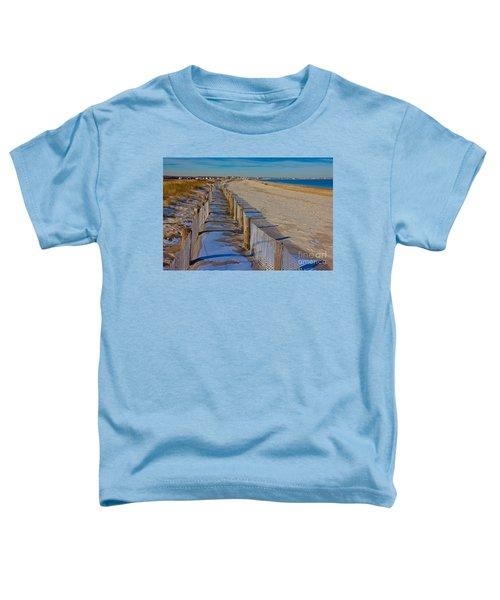 Winter On Duxbury Beach Toddler T-Shirt