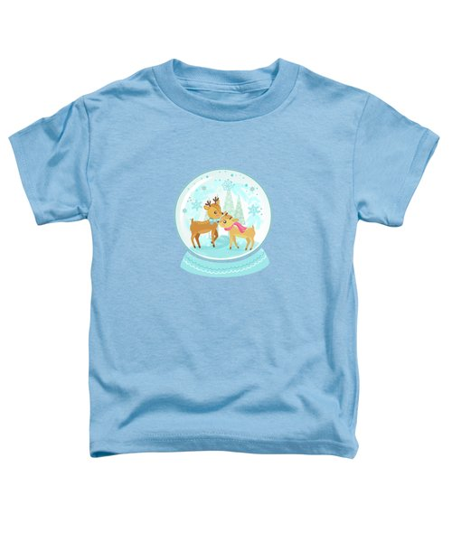 Winter Wonderland Snow Globe Toddler T-Shirt