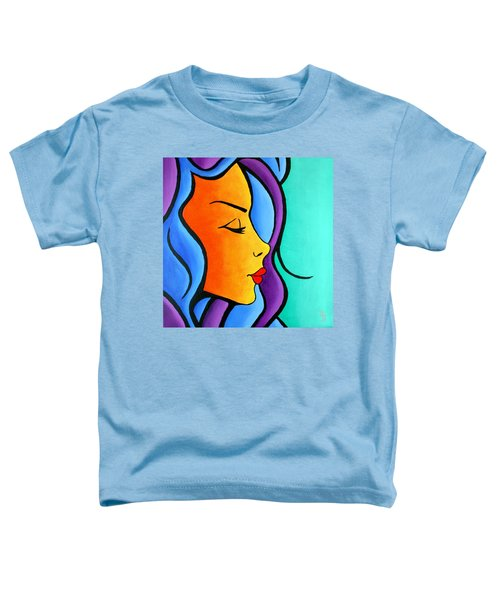 Woman Of Color, Eyes Closed Toddler T-Shirt