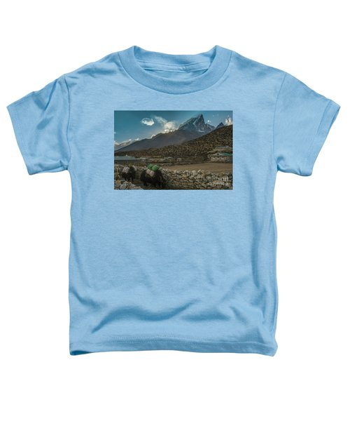 Yaks Moving Through Dingboche Toddler T-Shirt