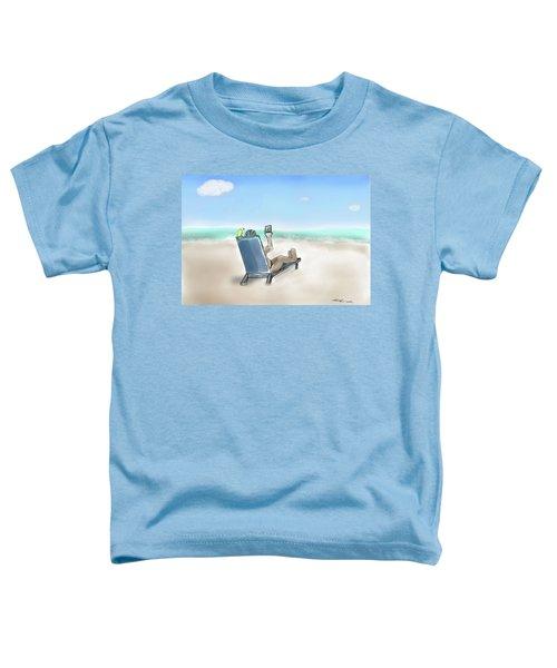 Yellow Bird Beach Selfie Toddler T-Shirt