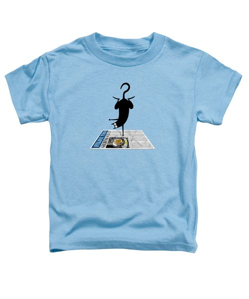 Yoga Mat Toddler T-Shirt by Andrew Hitchen