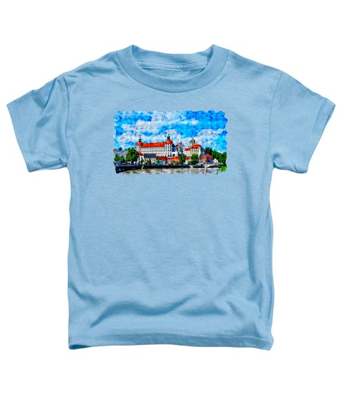 Cityscape Watercolor Drawing  - Castle Toddler T-Shirt