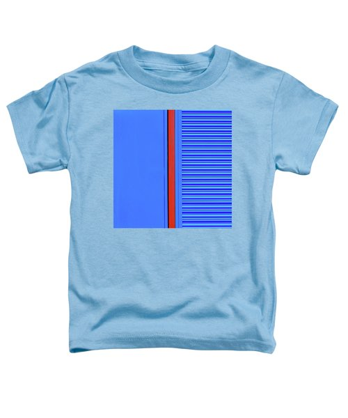 Blue With Red Stripe Toddler T-Shirt