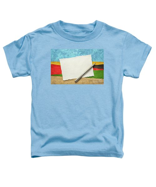 Abstract Landscape With A Blank Note Toddler T-Shirt