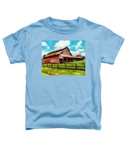 Along The Rural Road Old Barn In Tennessee IIi Toddler T-Shirt