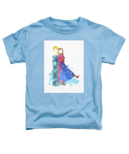 Anna And Elsa Watercolor Toddler T-Shirt
