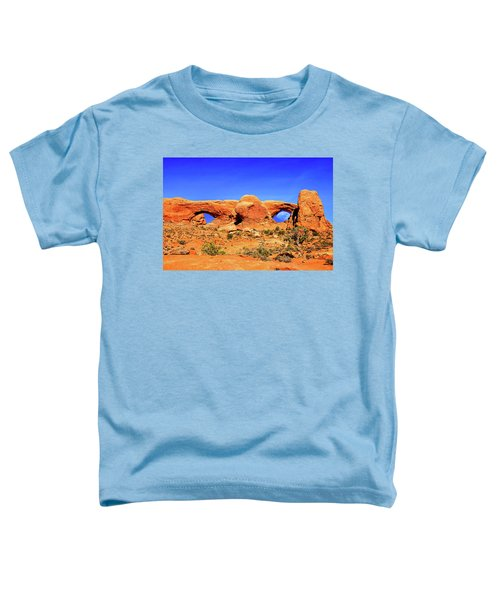 Toddler T-Shirt featuring the photograph Arches Moon Eye by Greg Norrell