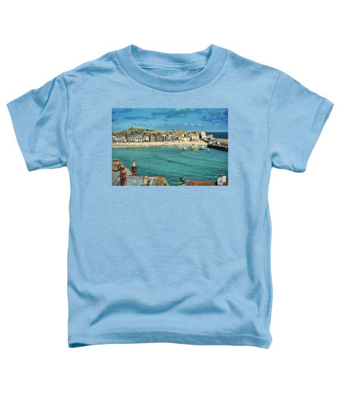 Beach From Across Bay St. Ives, Cornwall, England Toddler T-Shirt