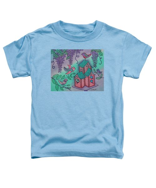 Biird Bungalo Under The Wisteria Toddler T-Shirt