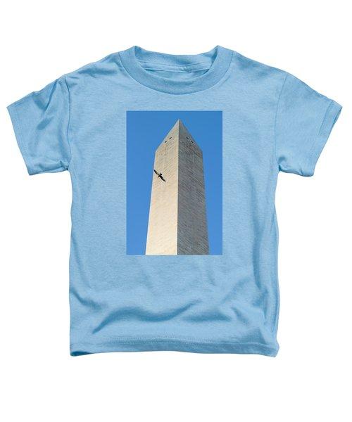 Bird Flying Around The Washington Toddler T-Shirt