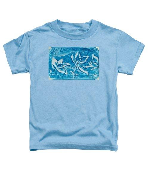 Blue Floral Toddler T-Shirt
