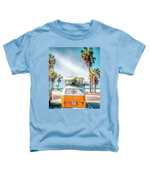 California Surfer Vw Camper Van Toddler T-Shirt